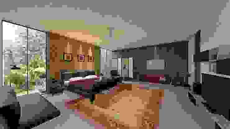 Casa Arboleda Dormitorios modernos de EMERGENTE | Arquitectura Moderno
