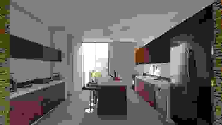 Casa Arboleda Cocinas modernas de EMERGENTE | Arquitectura Moderno