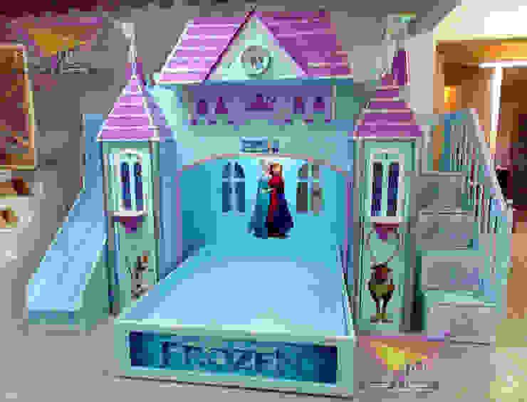 Preciosa Litera de Frozen de camas y literas infantiles kids world Clásico Derivados de madera Transparente