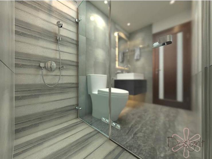 Bathroom:  Bathroom by DESIGNIT,Modern Tiles