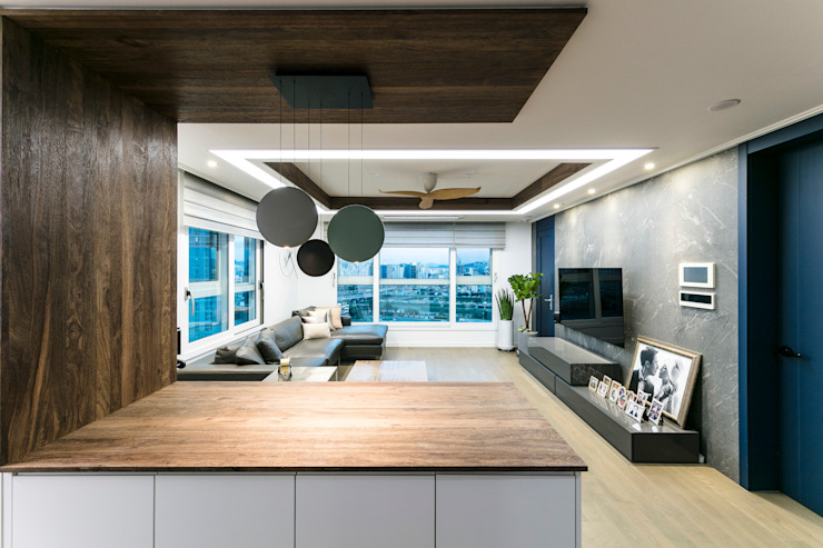다빈710 Scandinavian style kitchen Solid Wood White