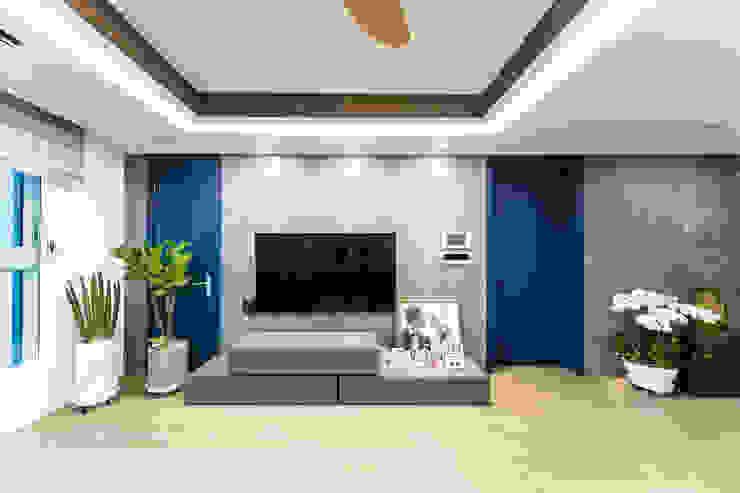 다빈710 Modern living room Tiles Grey