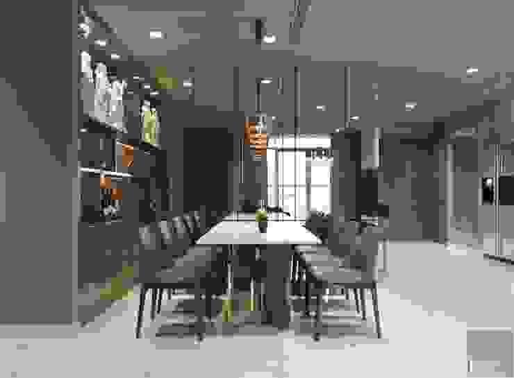 Thiết kế nội thất hiện đại căn hộ Vinhomes Central Park – ICON INTERIOR Phòng ăn phong cách hiện đại bởi ICON INTERIOR Hiện đại