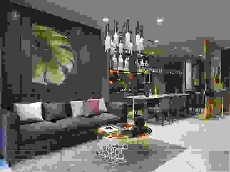 Thiết kế nội thất hiện đại căn hộ Vinhomes Central Park – ICON INTERIOR bởi ICON INTERIOR Hiện đại