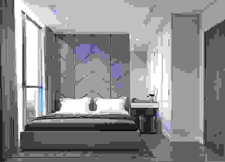 Thiết kế nội thất hiện đại căn hộ Vinhomes Central Park – ICON INTERIOR Phòng ngủ phong cách hiện đại bởi ICON INTERIOR Hiện đại
