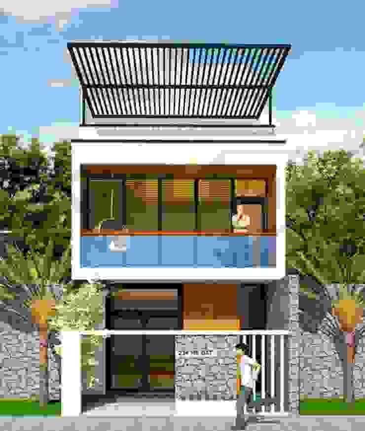 Ghim lại những mẫu nhà 2 tầng mái bằng được ưa chuộng nhất hiện nay bởi Kiến Trúc Xây Dựng Incocons