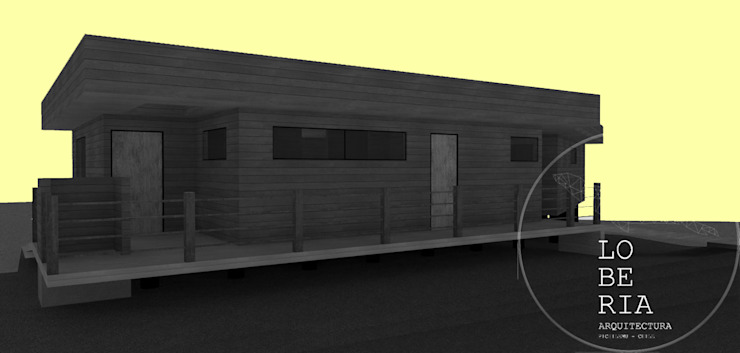 Diseño de Casa Ferrer por Lobería Arquitectura de Loberia Arquitectura Mediterráneo