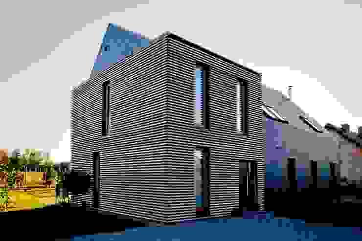 Maisons modernes par Majchrzak Pracownia Projektowa Moderne Bois Effet bois
