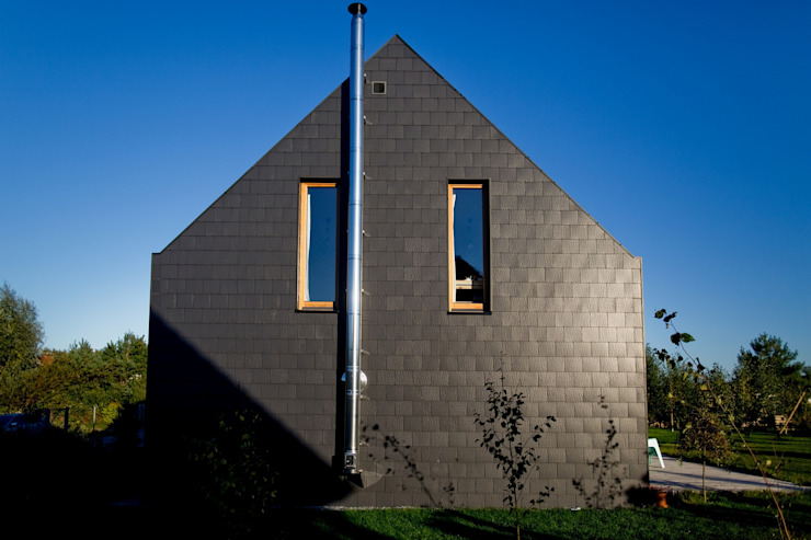 Maisons modernes par Majchrzak Pracownia Projektowa Moderne Tuiles