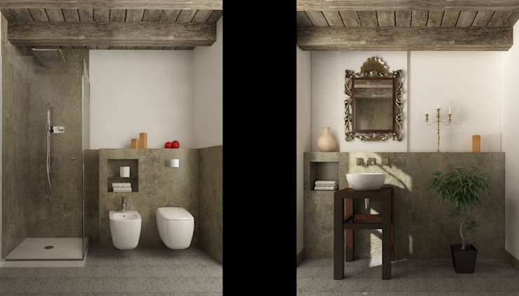 Country style bathroom by Ing. Massimiliano Lusetti Country