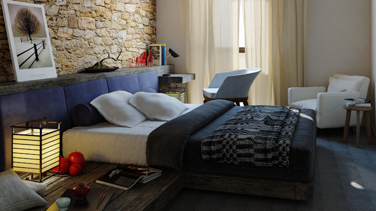 Ing. Massimiliano Lusetti Country style bedroom