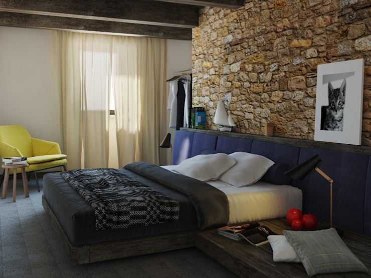 Country style bedroom by Ing. Massimiliano Lusetti Country