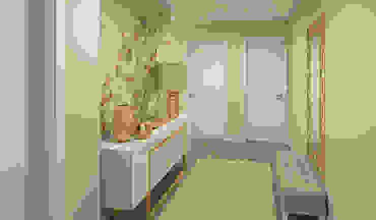 Ana Andrade - Design de Interiores Modern Corridor, Hallway and Staircase