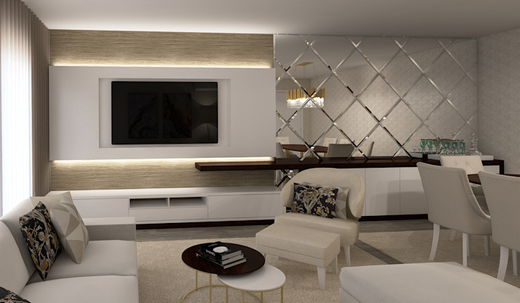 Salas de estilo moderno de Ana Andrade - Design de Interiores Moderno