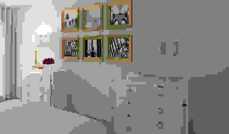 Projeto 3D - Apartamento Montijo Ana Andrade - Design de Interiores Quartos modernos