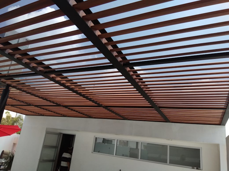 Materia Viva S.A. de C.V. Balcon, Veranda & Terrasse modernes
