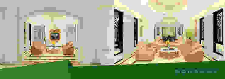 Thiết kế & thi công nội thất biệt thự nhà anh Dương chị Liên bởi Kiến trúc Doorway