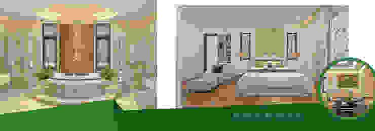 Thiết kế & thi công nội thất biệt thự nhà anh Dương chị Liên 2 bởi Kiến trúc Doorway
