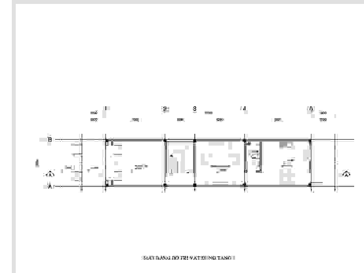 Thiết kế nhà phố 1 trệt 2 lầu 1 tum bởi Công ty TNHH Thiết kế Xây dựng Ngôi Nhà Hoàn Hảo