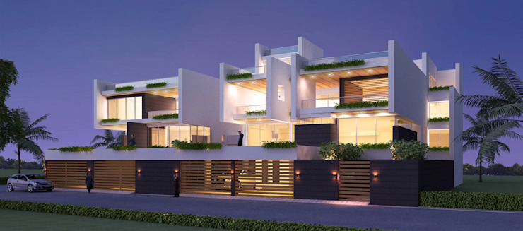 high end private residence project Modern houses by Vinyaasa Architecture & Design Modern