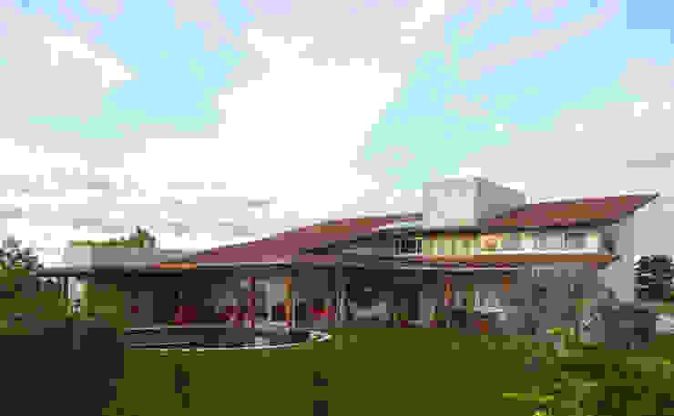 Casa de Campo por Arquitetura Sônia Beltrão & associados Moderno Madeira Efeito de madeira