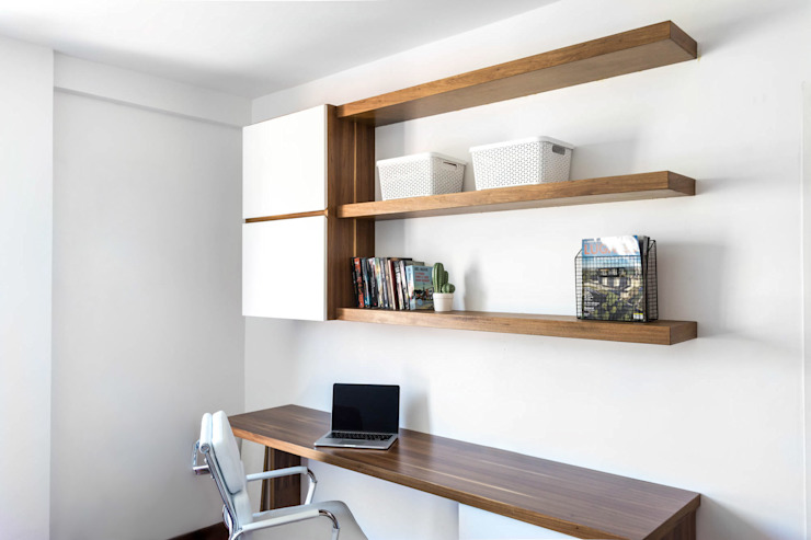Modern Study Room and Home Office by Bhavana Modern
