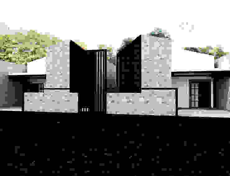 Rumah Putih Amanah Oleh r.studio Minimalis Beton