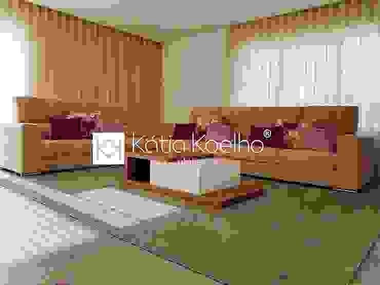 Salones de estilo moderno de Atelier Kátia Koelho Moderno