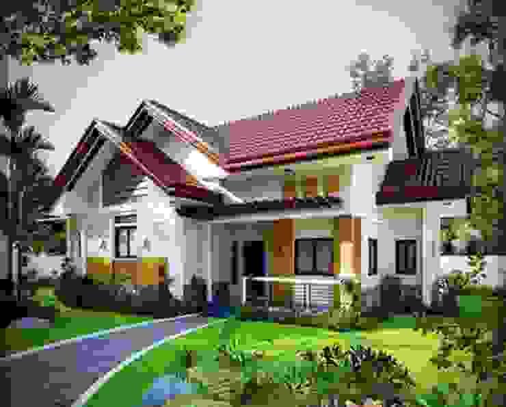 Mẫu nhà vườn 1 tầng mái Thái có gác lửng vừa đẹp lại vừa rẻ bởi Kiến Trúc Xây Dựng Incocons