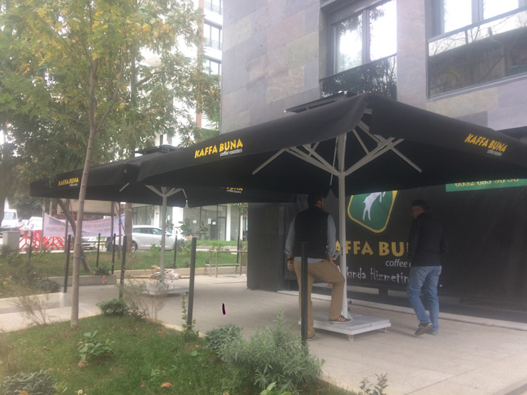 Akaydın şemsiye Vorgarten Aluminium/Zink Schwarz