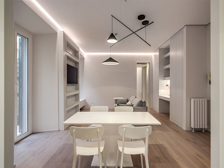 MOB ARCHITECTS Salas de estilo moderno