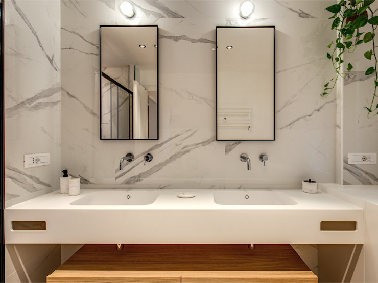 MONTEFALCO Bagno moderno di MOB ARCHITECTS Moderno
