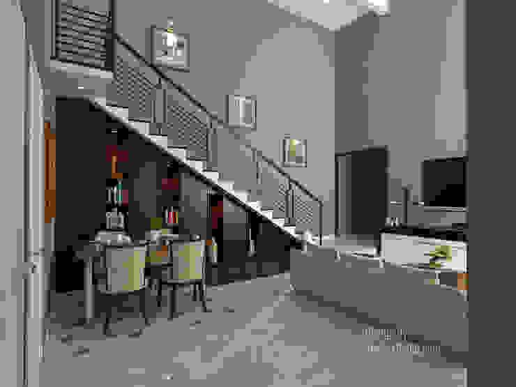 Ruang Tamu & Ruang Makan 2 Ruang Makan Modern Oleh Arsitekpedia Modern
