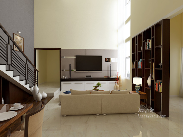 Ruang Keluarga 1 Ruang Keluarga Modern Oleh Arsitekpedia Modern