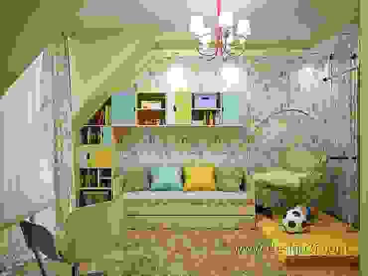студия Design3F Dormitorios infantiles de estilo ecléctico Verde