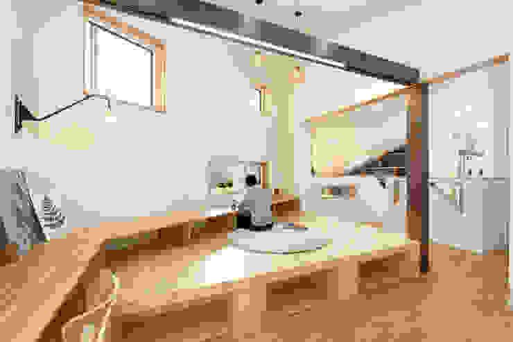 客廳 by 주택설계전문 디자인그룹 홈스타일토토, 現代風 木頭 Wood effect