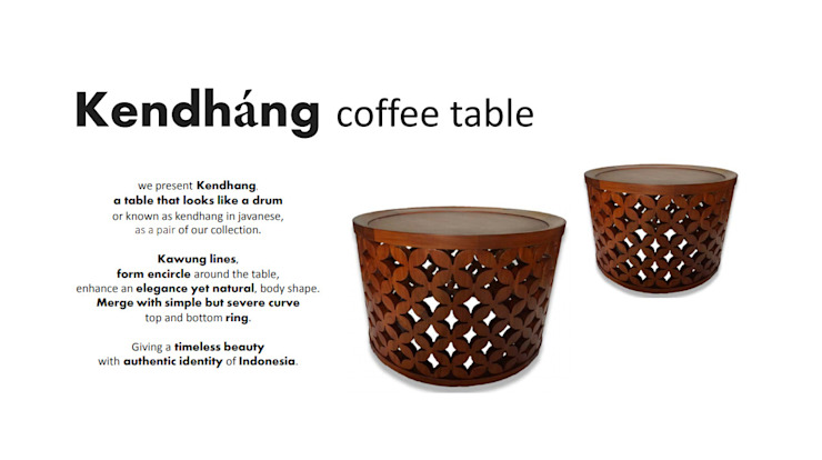 Kendháng coffee table Oleh Sweden studio Asia