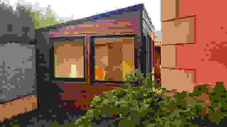 Caseta de madera habitable en Segovia Construcción de casetas de Madera en Madrid Casas de madera Madera Marrón
