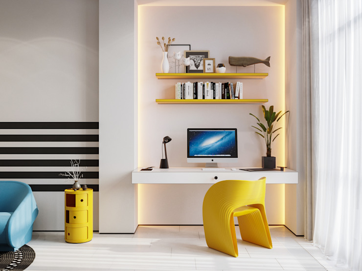 Suiten7 Quarto infantil minimalista Plástico Amarelo