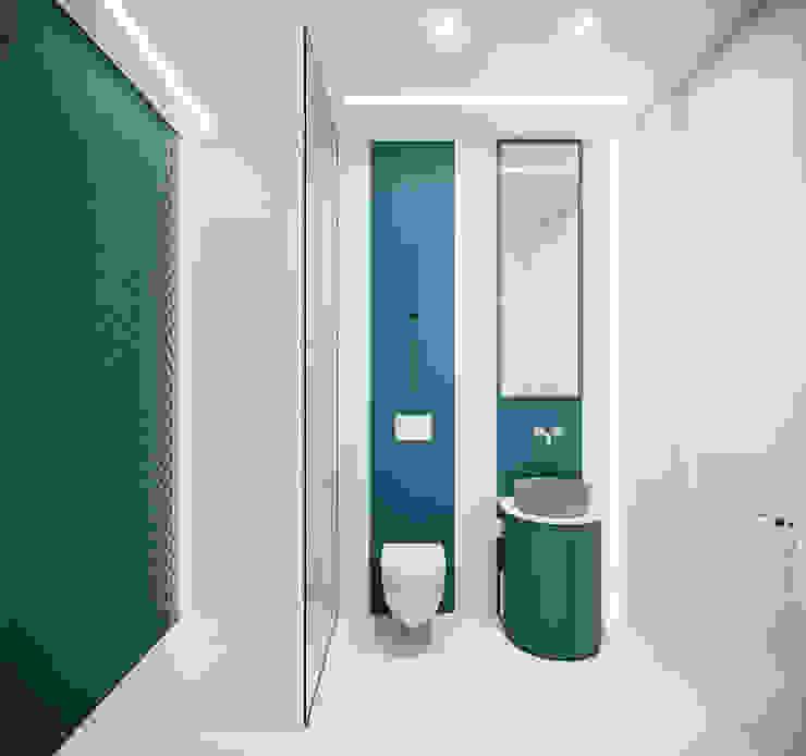 Проект АПАРТАМЕНТЫ SKY от бюро Suite n.7 Ванная комната в стиле минимализм от Suiten7 Минимализм Плитка