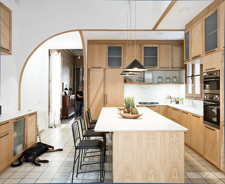 by AlbertBrito Arquitectura Industrial Engineered Wood Transparent