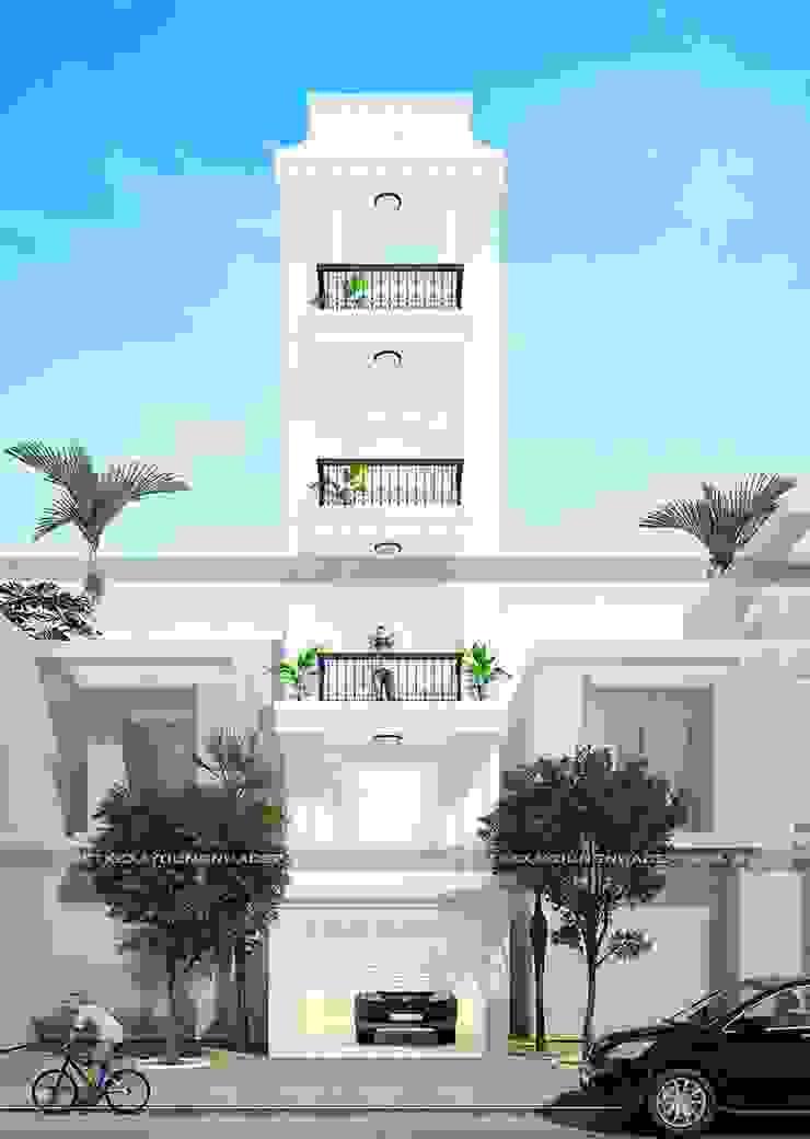 Mặt tiền nhà đẹp bởi Công ty cổ phần tư vấn kiến trúc xây dựng Nam Long Hiện đại