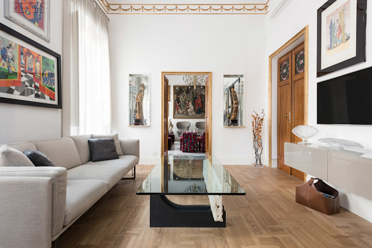 Appartamento in Prati per Listone Giordano Sala da pranzo eclettica di Paolo Fusco Photo Eclettico Marmo
