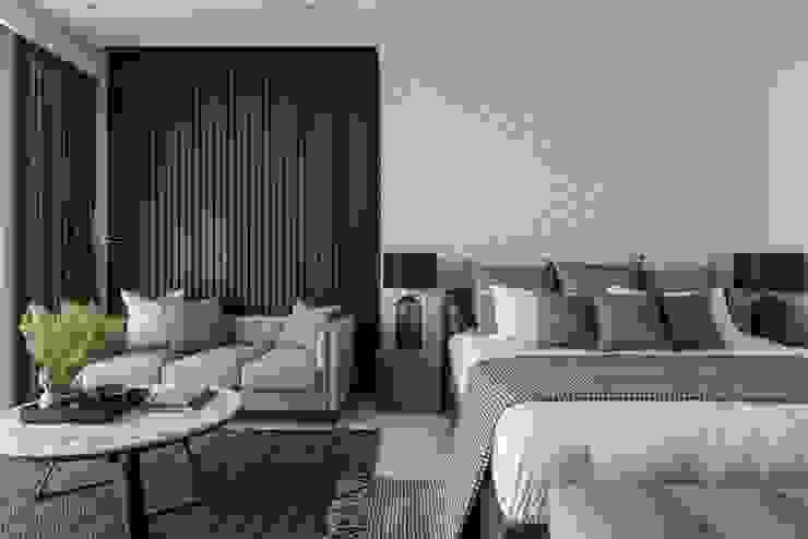 帶有現代感的寬敞臥室 根據 湘頡設計 現代風