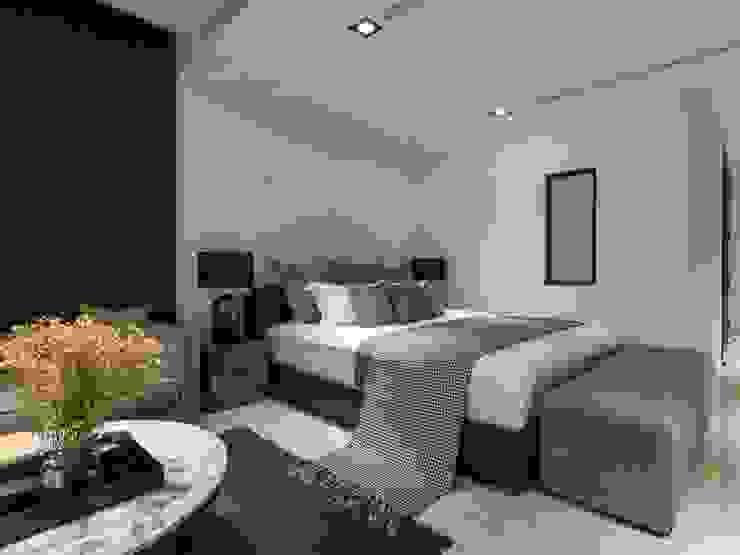 灰白色的色調讓人感覺到舒適祥和 根據 湘頡設計 現代風