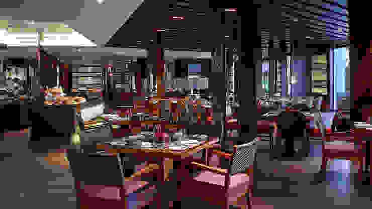 Ritz Carlton Bali, custom chairs, lounge and bar area Ruang Makan Tropis Oleh Sweden studio Tropis Granit