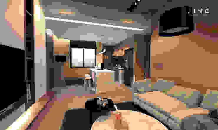 Kaohsiung 謝宅 现代客厅設計點子、靈感 & 圖片 根據 景寓空間設計 現代風