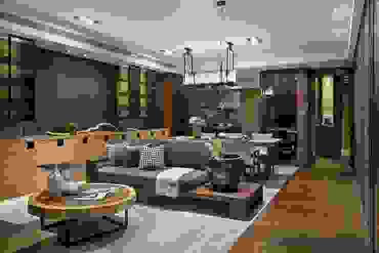 餐廳也置有小客廳 Asian style dining room by 宸域空間設計有限公司 Asian