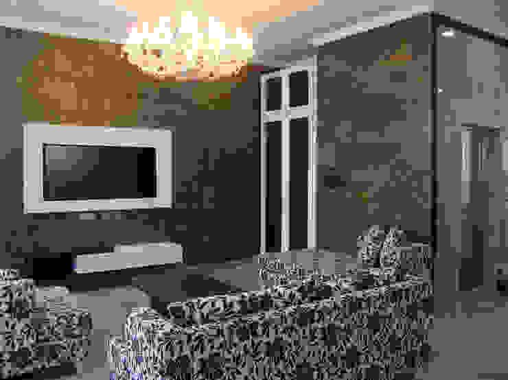 Ruang Tamu / Ruang Keluarga Ruang Keluarga Klasik Oleh Sweden studio Klasik Batu Bata