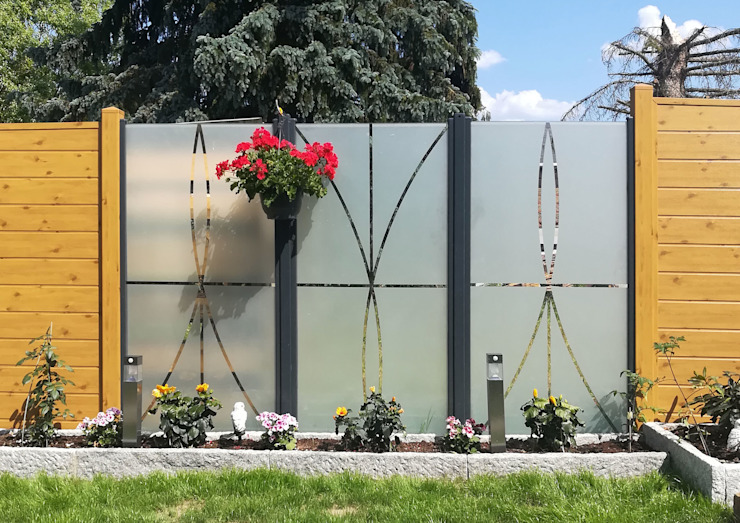Jardines de estilo moderno de ZAUN-AUS-GLAS Moderno Vidrio